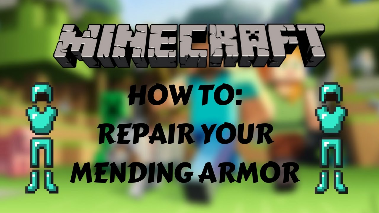 How To Repair Armor With Mending!!