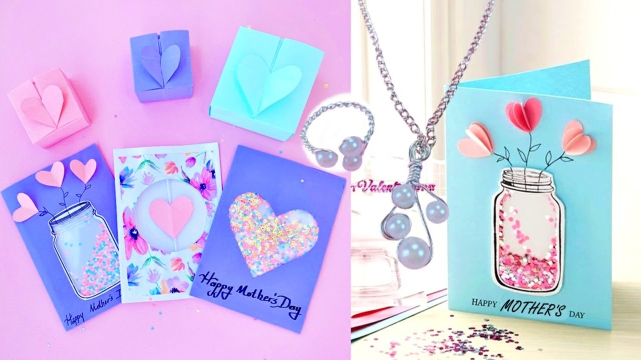 6 DIY AMAZING MOTHER'S DAY GIFT IDEAS YOU WILL LOVE – GIFT CARDS, HEART BOX and JEWELRY