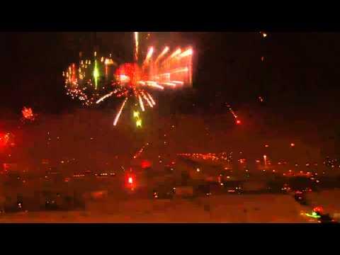Iceland New Year 2012 Fireworks Celebration at Reykjavik HD Webcam