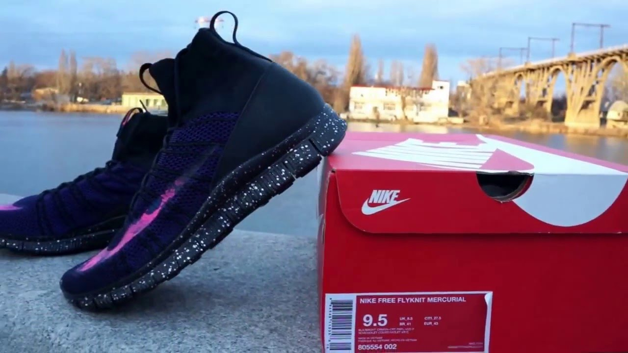 ac7005941717 Nike Free Flyknit Mercurial Savage Beauty Obisian 805554 002 - YouTube