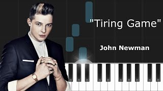 """John Newman - """"Tiring Game"""" ft. Charlie Wilson Piano Tutorial - Chords - How To Play - Cover"""