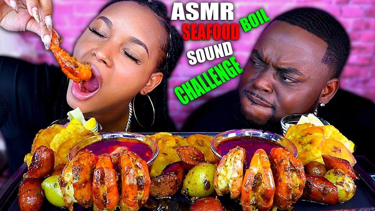 ASMR SEAFOOD BOIL PT 2   EATING SOUNDS   ASMR EATING NO TALKING MUKBANG   BEAUTY AND THE BEAST ASMR