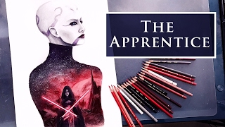 Women of Star Wars: Ventress | Time Lapse Watercolour Painting