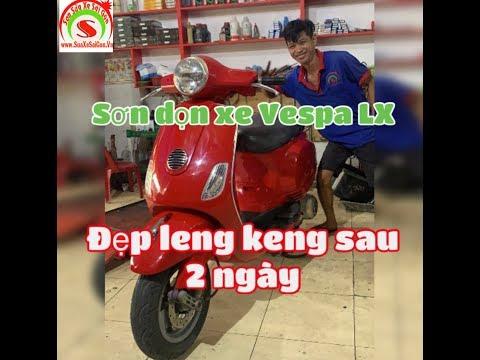 Sơn Xe Sài Gòn - Sơn Dọn Xe Vespa Lx đẹp Leng Keng Sau 2 Ngày