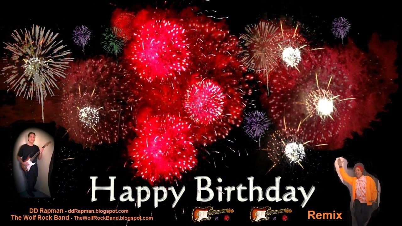Happy Birthday Song Remix Rap Rock Hip Hop Fireworks Card Mixtape – Happy Birthday Wishes Flash Cards