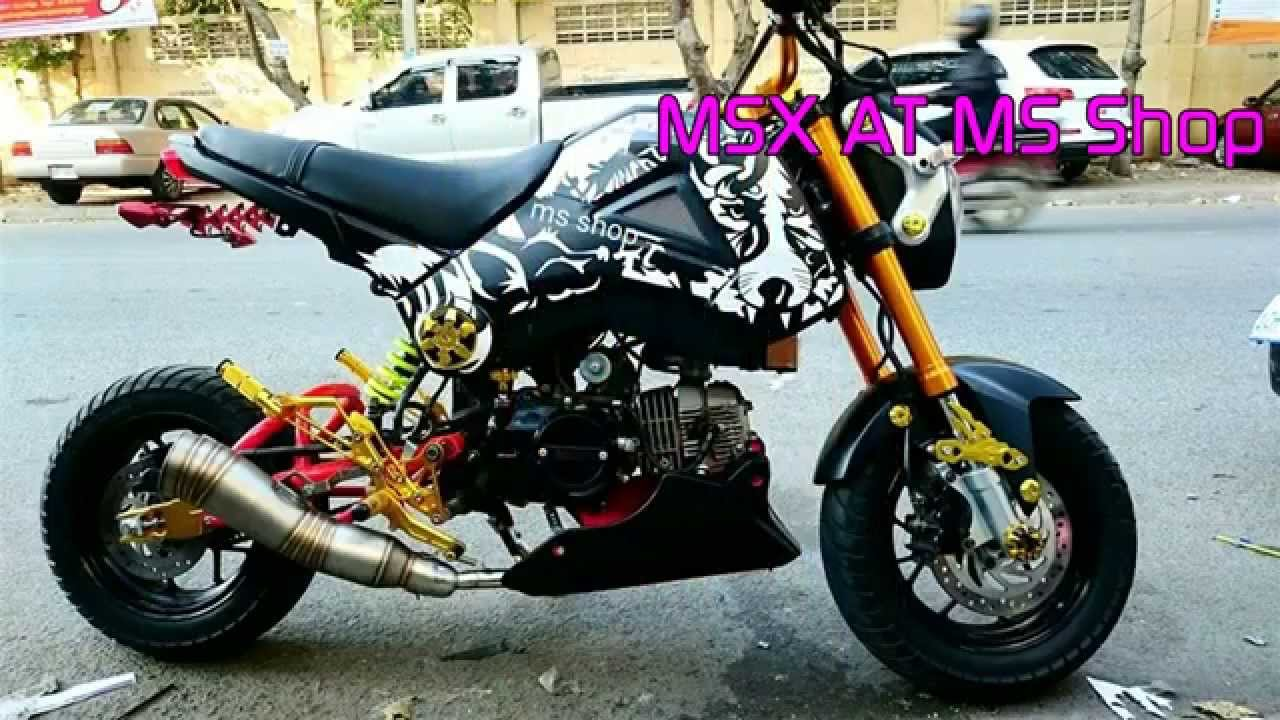 honda msx 125 new 2015 with honda zoomer x 2015 modified youtube. Black Bedroom Furniture Sets. Home Design Ideas