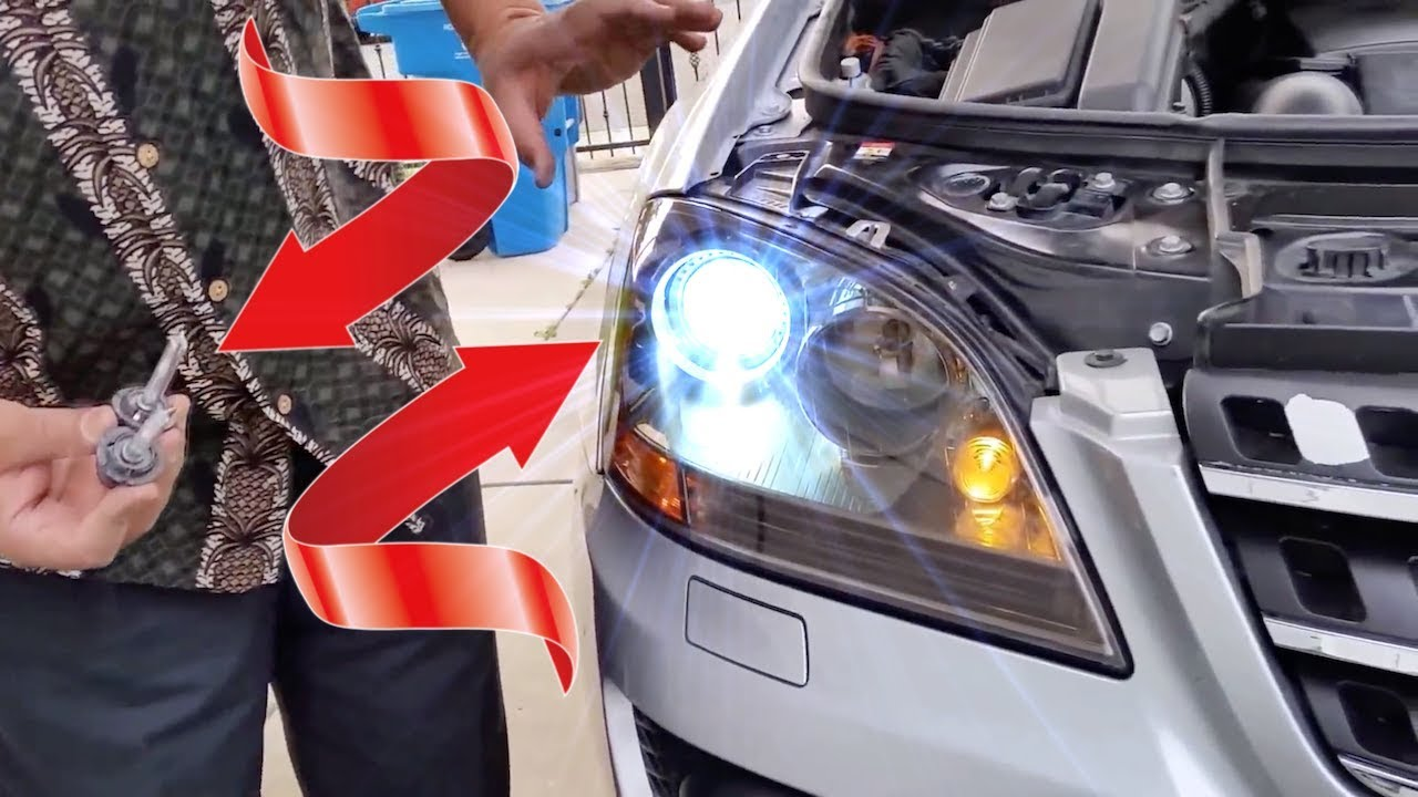 Hid Headlight Bulbs >> How to upgrade HID Xenon Headlights for Mercedes | W164 | ML Class - YouTube