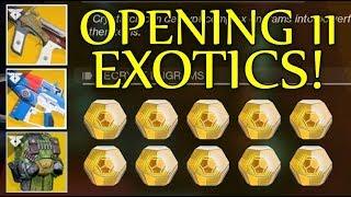 Destiny 2 - On The Hunt For NEW Warmind Exotics! Opening 11 Exotic Engrams - Exotic Engram Opening