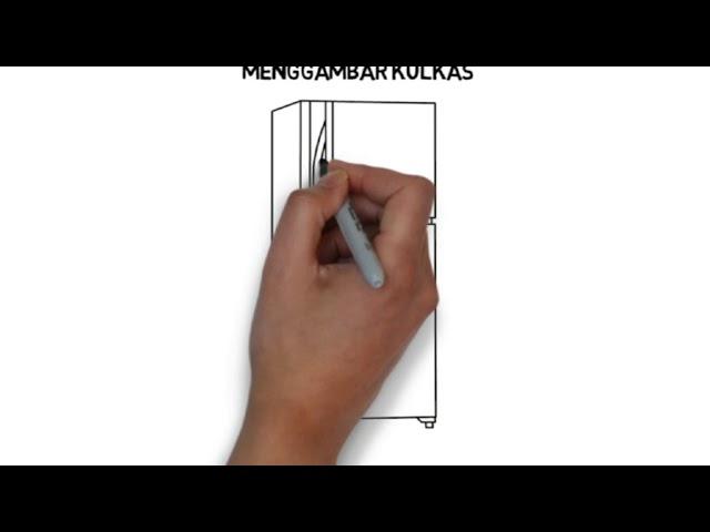 Cara menggambar kulkas,cara menggambar meja by yete