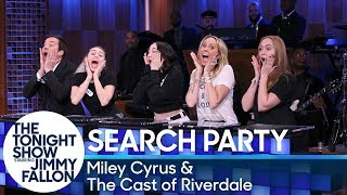 Miley Cyrus teams up with Jimmy, her sisters, Noah and Brandi, and mom, Tish, as they face off against Riverdale's K.J. Apa, Lili Reinhart, Camila Mendes, Cole ...