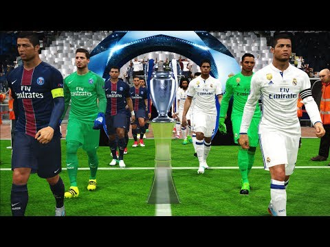 PES 2017 | UEFA Champions League Final | Real Madrid vs PSG | Ronaldo Free Kick & Penalty Shootout