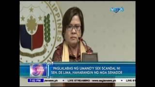 Paglalabas ng umano'y sex scandal ni Sen. de Lima, haharangin ng mga Senador