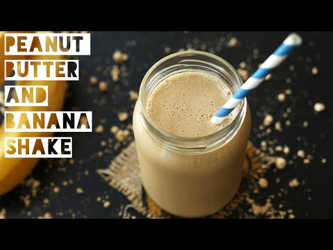 How To Make a Low Calorie Peanut Butter Banana Smoothie | Healthy Peanut Butter Protein Shake Recipe