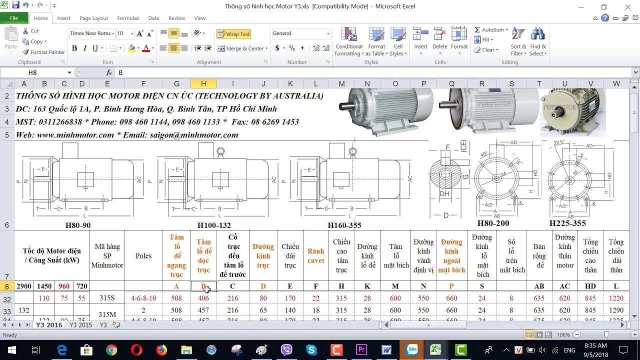 Bản vẽ kỹ thuật động cơ điện 75 kw 100 HP 960-1000 vòng phút, MINHMOTOR 0968140191 .