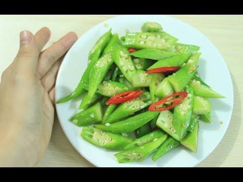 cách làm đậu bắp xào tỏi