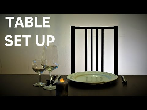 How to set up tables fast and efficiently as a waiter! Restaurant training video! Waiter training!