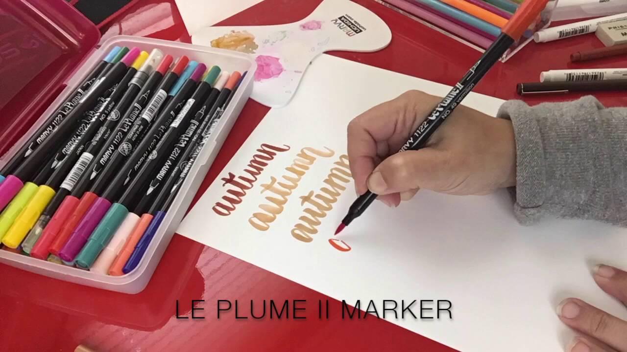 Brush lettering marker comparison marvy uchida youtube