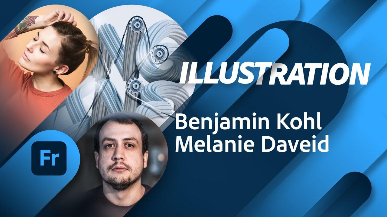 Illustration mit Benjamin Kohl und Melanie Daveid |Adobe Live