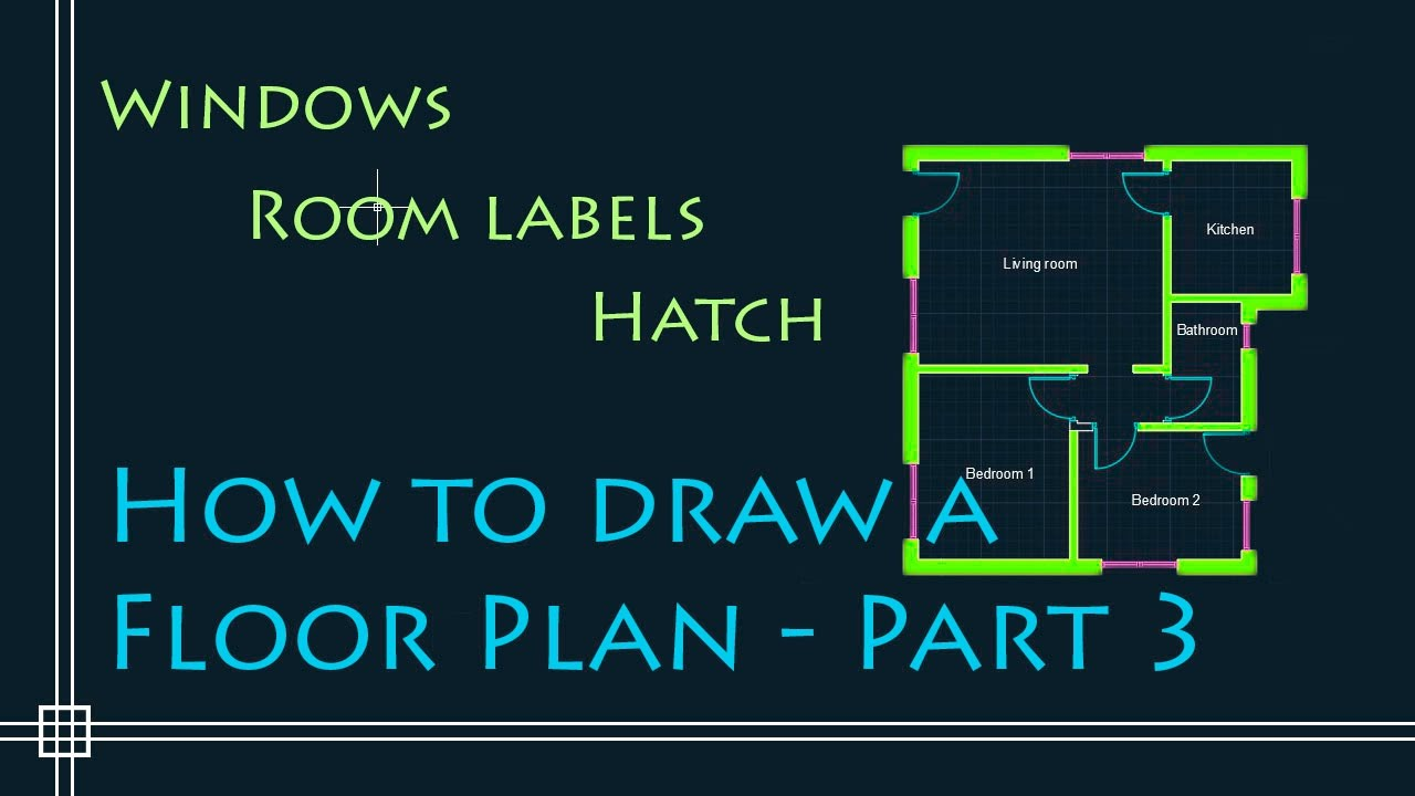 Autocad 2d basics tutorial to draw a simple floor plan Simple 2d cad