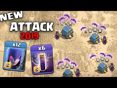 12 Max Witch + 6 Bat Spell + 4 Max Pekka :: NEW TH12 WAR 3 STAR ATTACK STRATEGY 2019 (New Update)