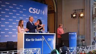 Klar für Sicherheit - Bundeskanzlerin Merkel in Bad Kissingen
