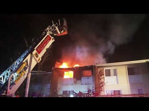 Gloucester Twp. NJ - All Hands Working Apartment Fire w/Evac - Lakeview Apartments - 12/10/17