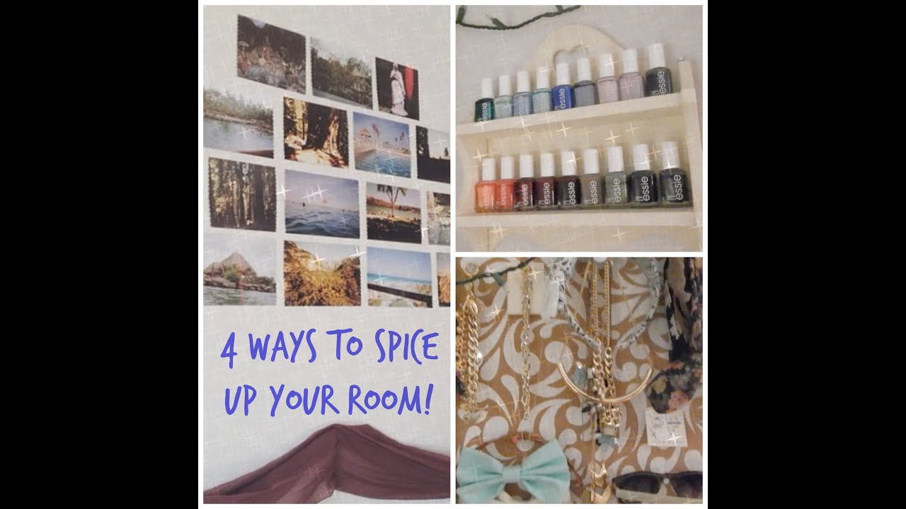 4 ways to spice up your room youtube