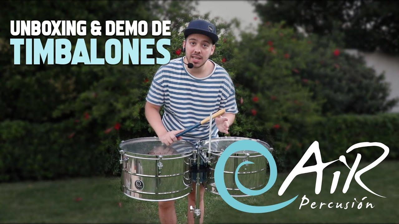 Unboxing & demo de TIMBALONES Air Percusión por @lauchalarsen