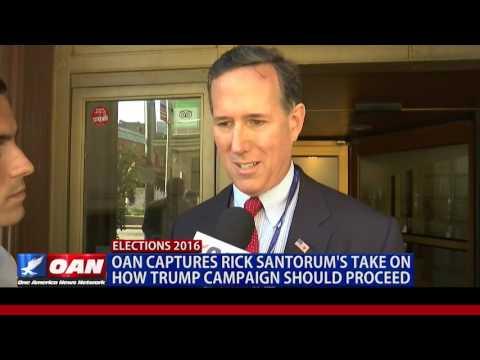 Former Senator Rick Santorum Speaks With One America at RNC