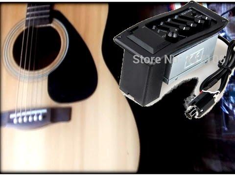 Установка пьезодатчика и преампа на акустическую гитару