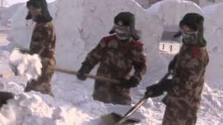 ن الصين الشرطة خلق فن الثلج