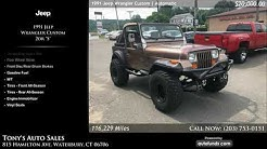 Used 1991 Jeep Wrangler Custom   Tony's Auto Sales, Waterbury, CT
