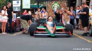 Open Wheel Indy Car Blazing Down Public Highway
