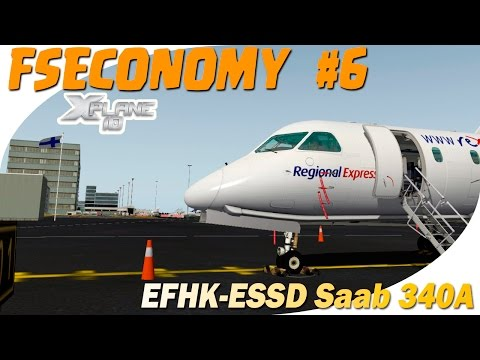 X-Plane 10 | FSECONOMY #6 | EFHK-ESSD | X-Aviation Saab 340