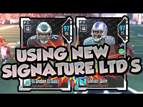 Madden 18 Ultimate Team :: 1st Time Using BOTH NEW Signature LTD's :: Madden 18 Ultimate Team
