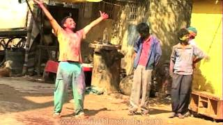 King of the world or just drunk Holi celebrator in India