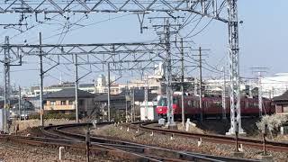 [2018年度廃車予定編成]名鉄5700系 5703f(回送名古屋行き)枇杷島分岐点 通過‼️