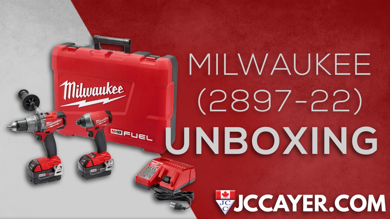 Milwaukee 2897-22 M18 FUEL™ 2-Tool Combo Kit UNBOXING – JCCayer.com