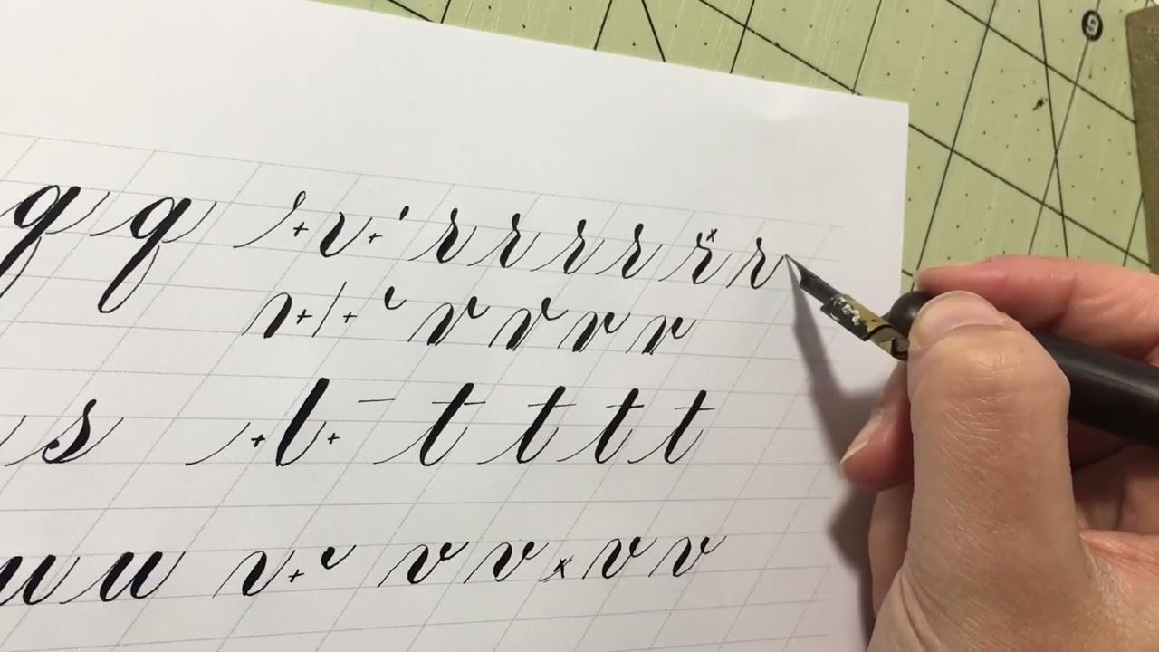 Copperplate Calligraphy 6 Of 7 T U V W X Y Z