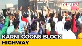 Karni Sena Blocks Highway In Protest Against Padmaavat