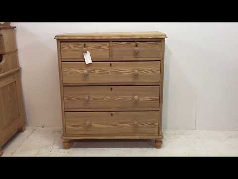 Large Old English Pine Chest of Drawers - Pinefinders Old Pine Furniture Warehouse