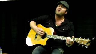 "Lee Brice singing ""I Drive Your Truck""."
