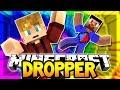 MINECRAFT DROPPER RACE CHALLENGE!   THE FALLING 3 w/Vikkstar (Minecraft 20 Level Dropper Map) #1
