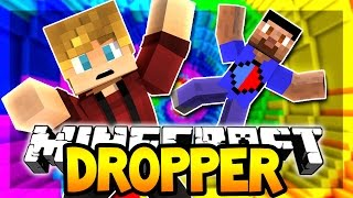 MINECRAFT DROPPER RACE CHALLENGE! | THE FALLING 3 w/Vikkstar (Minecraft 20 Level Dropper Map) #1