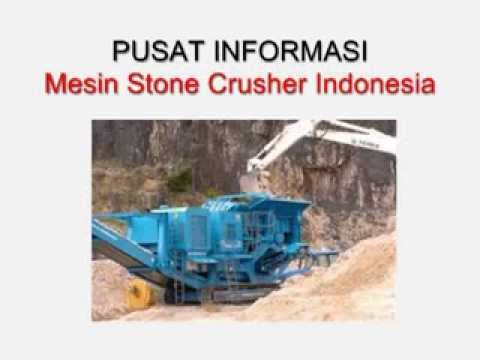Jual Mesin Stone Crusher Indonesia