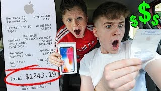 Letting LITTLE BROTHER Decide What i BUY for 24 HOURS!! *bad idea*