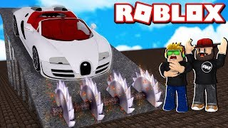 DESTROYING BRAND NEW BUGATTI VEYRON in ROBLOX CAR CRUSHERS 2