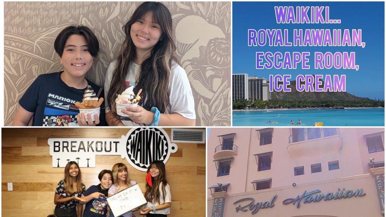 ROYAL HAWAIIAN WALKING TOUR in WAIKIKI 4K   LEI MAKING   ESCAPE ROOM