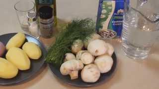 Нежный Cливочно-грибной крем-суп. Быстро, вкусно и сытно !