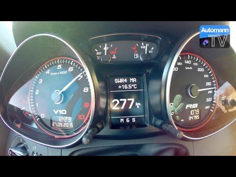 Audi R8 V10 Spyder (525hp) - 0-290 Km/h Acceleration (60FPS)